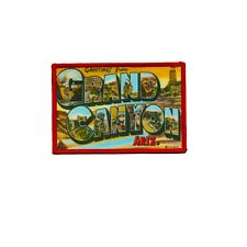 Grand Canyon Travel Postcard Patch Horror Embroidered Iron On Applique New usa 1