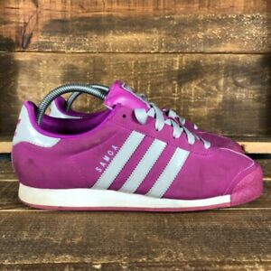 Adidas Womens Samoa Classic Pink G67459 Low Top Leather Athletic Shoes Size US 8