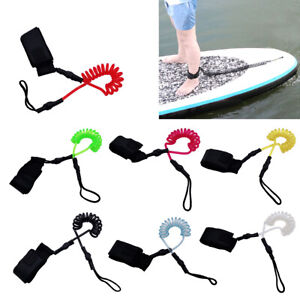 5mm Surfboard Leash Coiled Stand UP Paddle Board Surfing Ankle Leash Leg Rope US