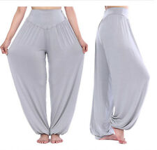 WOMEN HAREM TROUSERS Wide Leg FULL LENGTH PANTS YOGA BAGGY LEGGINGS UK SIZE 8-22