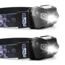 Lampe de Tête Projecteur COB LED Frontale Léger Etanche Pour Camping Randonnée