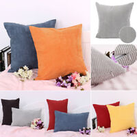 Velvet Square Rectangle Home Sofa Decor Throw Pillow Cover Case Cushion Cover US