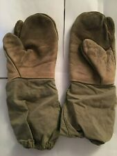 Canada Army Winter Warfare Leather Mitts / Gloves with Shooting Fingers