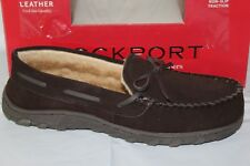ROCKPORT SUEDE MOCCASIN MEN'S SLIPPERS, BROWN, 71RQ670028