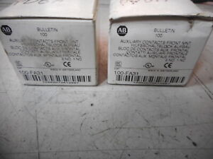 ALLEN BRADLEY -- Quantity of 2 -- AUXILIARY CONTACT BLOCK 3NO/1NC -- 100-FA31