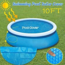 Surfilter Round Pool Solar Cover Protector | 10ft Foot Above Ground Blue Thermal