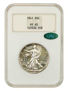 1941 50c NGC/CAC PR 65 (OH) Old NGC Holder - Walking Liberty Half Dollar