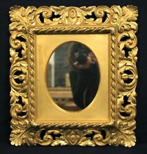 Mirror with Frame Wooden Golden A Leaf & Carved/Xix-Xx Century