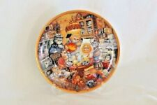 Franklin Mint 115th Gold Medal Anniversary Collectible Cat Plate Whimsical Cats