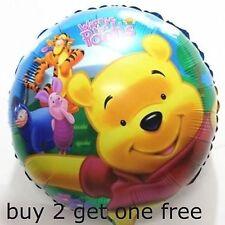 "Winnie the Pooh mylar foil balloon helium birthday party baby showe 18"""