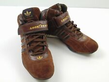 ADIDAS Goodyear Men's Brown Mid Ankle Strap Racer Shoes Sneakers RARE Size 10