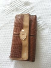 Fossil Key-Per TriFold Envelope Brown Leather Organization Wallet Clutch 7.5 x 4