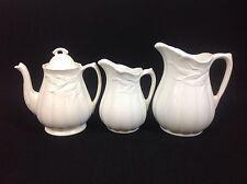 Royal Crownford Weatherby Hanley Teapot Large Medium Jugs Pitchers White Wheat