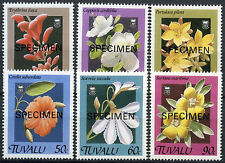 Tuvalu 1994 SG#584-9 Flowers Optd Specimen MNH Set #A86183