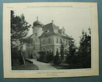 AuK3) Architektur Berlin Grunewald 1903 Bismarckallee 42 Aug. Scherl  26x34cm