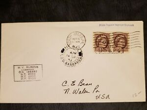 Canada Scott 337 Pair On Paquebot Cover To United States