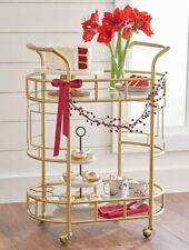 Better Homes And Gardens Fitzgerald 2-Tier Bar Cart, Gold (FREE SHIPPING)