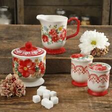 The Pioneer Woman Vintage Floral 5-Piece Sugar and Creamer, Salt & Pepper Set