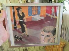"New Orleans~City Scene~Richard Pendleton~10.5x8.5""~Outsider art~Pig Lady~1993"