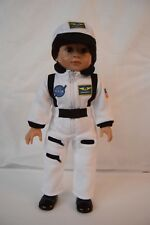 White NASA Astronaut Uniform for 18'' Doll Clothes American Girl Luciana or Boy