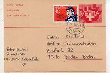 Suiza Entero Postal circulado con franqueo complementario año 1982 (DL-589)