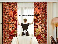 Indian Handmade Tie-N-Dye Ethnic Home Decor Life Of Tree Window & Door Curtain's