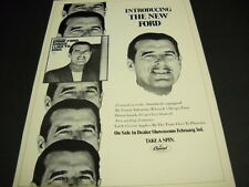 Tennessee Ernie Ford Intrducing The New Ford original 1969 Promo Display Ad mint