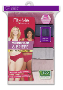 Women's Fruit of the Loom 'Fit for Me' 6pk Microfiber Briefs— Size 9 or 11