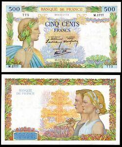 France, Banque de France, 500 francs, 9-1-1941, 044411775 (WPM 95a). GVF.