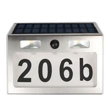 7 LED 200LM Solar Number Doorplate Wall Door Lamp Outdoor​ Motion Sensor Light