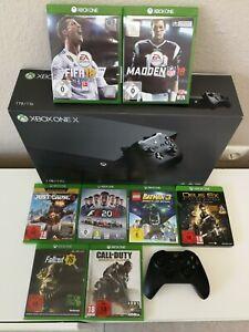 Xbox One X + 8 Spiele + Controller + OVP