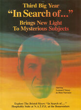 Leonard Nimoy In Search Of 1978 Ad- third big year/new light to mysterious subje