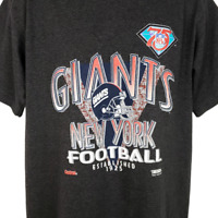 New York Giants T Shirt Vintage 90s NFL Football Vaporwave Made In USA Large
