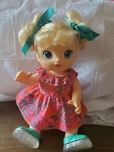"""Baby Alive Step N Giggle Talking 13"""" Doll Light Up Shoes *Re-dressed"""