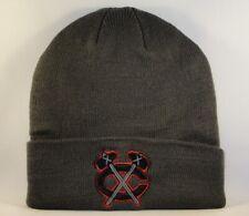 Chicago Blackhawks NHL Zephyr Cuffed Knit Hat Gray