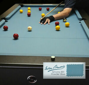 861 Mesa de Billar Velocidad Paño Ipa Azul Polvo 7'x4' Competencia Championship