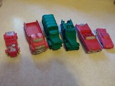 Vintage Lot Of Auburn Rubber Vehicle Toys