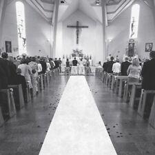 Tapis blanc 1 x 15 m pour cérémonie de mariage