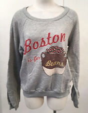 Project Social T Women's Sweatshirt Boston Beans Grey MED NWT Urban Outfitters
