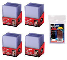 100 Ultra Pro Regular 3x4 Toploaders + 100 soft sleeves New Top loaders