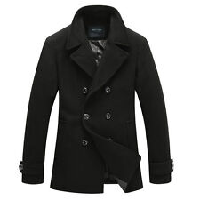 Men's Double Breasted Wool Trench Coats, Macs