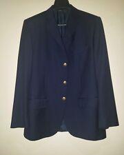 POLO RALPH LAUREN Blue Label Extra-Fine Virgin Wool 3 Btn Navy Blue Blzr Sz 43 R