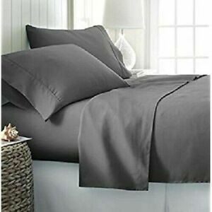 100% Cotton Bed Fitted Sheet Hotel Quality Deep Pocket 16 Inches With 2 Pillow