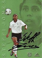 Autogramm Steffi Jones Frauen Fußball WM 2003 Olympia Bronze DFB Karte UEFA
