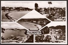Cornwall - Falmouth - Vintage Real Photo Multiview Postcard