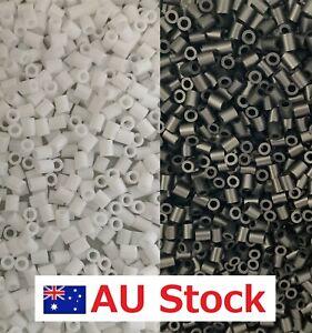 500/1000/2000pc 2.6mm Mini Fuse Iron Hama Perler Beads White Black