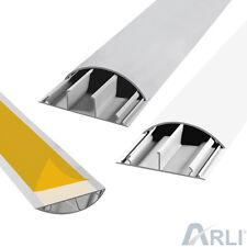 Kabelkanal selbstklebend Kanal rund TV Fussboden Wand Kabelbrücke grau weiß ARLI