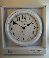 Sterling & Noble Clock Company Kitchen Wall Clock Glass Lens White #617