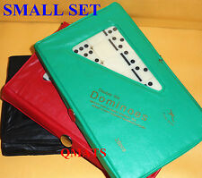 1Mini Dominoes Double Six Set of 28 Ivory TRAVEL CASE GAME Travel WHOLESALE