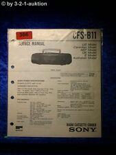 Sony Service Manual CFS B11 Cassette Recorder (#0366)